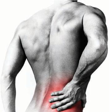 Man met pijnlijke rug