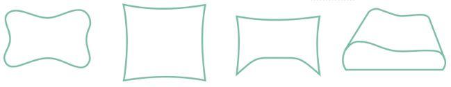 hoofdkussen vormen